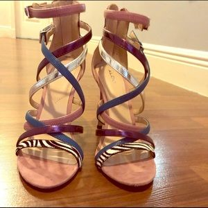 Aldo multi color strapped sandals/heels